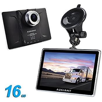 """AZGIANT 7"""" pulgadas tablet navegador para camion con GPS DVR SAT y sistema ANDROID de 16 GB"""