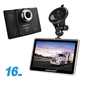 azgiant 7 39 39 pouces gps auto voiture camion sat nav navigation multifunktional dashcam tablette. Black Bedroom Furniture Sets. Home Design Ideas