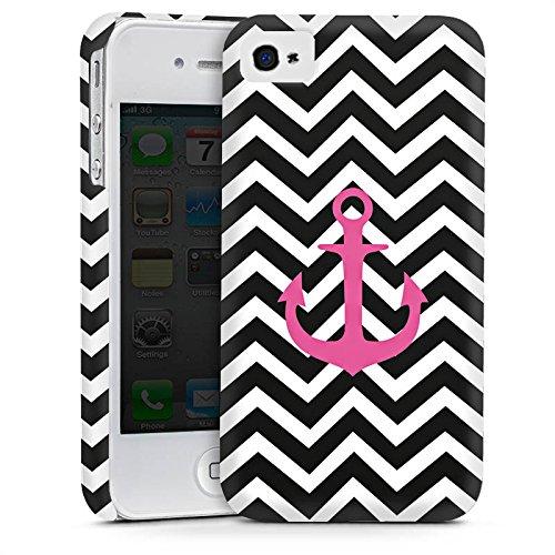 Apple iPhone 5s Housse Étui Protection Coque Zigzag Maritime Ancre Cas Premium mat
