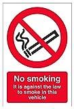 VSafety, cartello di divieto di fumo 57047AN-W No Smoking In This Vehicle, adesivo per finestrino, orientamento verticale, 150 x 200mm, colore nero e rosso (lingua italiana non garantita)