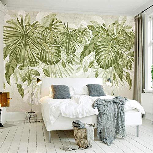 apete Pflanze Dschungel Wind Hintergrund Wand Wohnzimmer Schlafzimmer Tapete für Wand 3 D, 200 * 140 Cm Kunst Aufkleber Wandbild,250 * 175 cm, ()