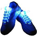 Vnfire Intermitente Bright LED Cordones de los Zapatos Cordones Luminosos de 80cm