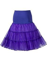 Boolavard Petticoat Underskirt Retro Vintage 50 Balançoire 1950 Rockabilly Blanc, Noir, Bleu, Rose, Rouge