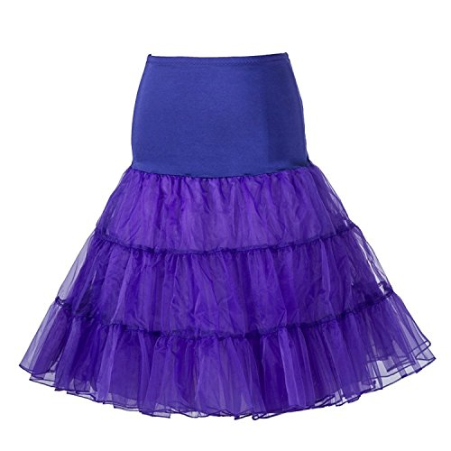 Boolavard 1950 Petticoat Reifrock Unterrock Petticoat Underskirt Crinoline für Rockabilly Kleid...