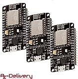 AZDelivery 3 x NodeMCU Lua Amica Modul V2 ESP8266 ESP-12E WIFI Wifi Development Board mit CP2102 und gratis eBook!