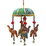 Find Something Different Decorative Elephants Mobile with Bells