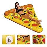Piscina Flotador Gigante Pizza Slice Pool Flotador Cama PVC Flotante Air Cushion 180x150cm Para Playa Agua Deporte Amarillo de YGJT