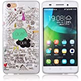 Voguecase® Para Huawei G Play Mini(Honor 4C) TPU Funda de Silicona de Gel Carcasa Tapa Case Cover (OKAY) + Gratis aguja de la pantalla stylus universales