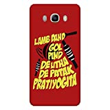 Bhishoom B9410 Designer 3D Printed Hard Back Case Cover for Samsung Galaxy On8 Sm-J710Fn/Df (Cricket :: Typography :: Texture :: Funny :: Ipl)