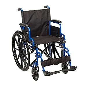 How Much Is A Wheelchair >> Drive Medical Bls16fbd Sf Wheelchair With Flip Back Desk Arms And Swing Away Footrest