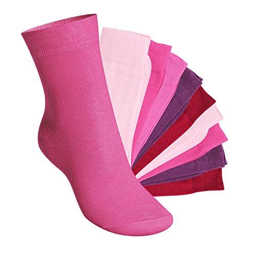 Footstar Footstar 10 Paar EVERYDAY! KIDS Kinder Socken für Mädchen & Jungen Berrytöne-27-30