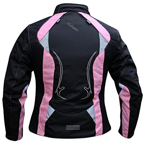 Arena negra y rosa de traje de neopreno para mujer para moto...