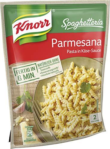 Knorr Spaghetteria Parmesana Fertiggericht Pasta (in Käse-Sauce) 5 x 163 g