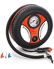 IMPREX Portable Electric Mini DC 12V Air Compressor Pump for Car and Bike Tyre Tire Inflator