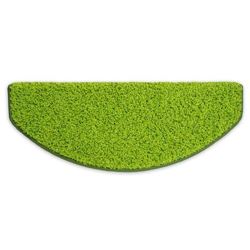 Shaggy Stufenmatten Premium S Line | 15 Stück Set | Limette / Grün