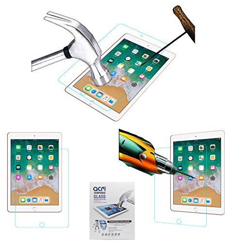 ACM Tempered Glass Screenguard for Apple Ipad 9.7 2018 A1893 Tablet Screen Guard