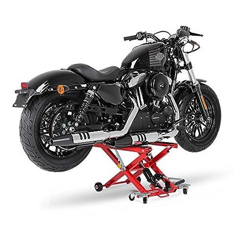 Cric moto ConStands Mid-Lift XL rouge pour Harley Davidson Fat
