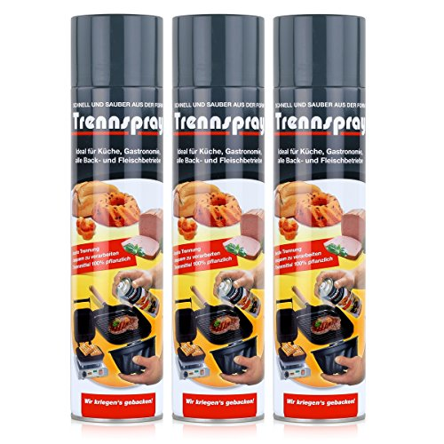 Boyens Trennspray 600ml Dose ( 3er Pack ) Trennfett Grillspray Backtrennmittel