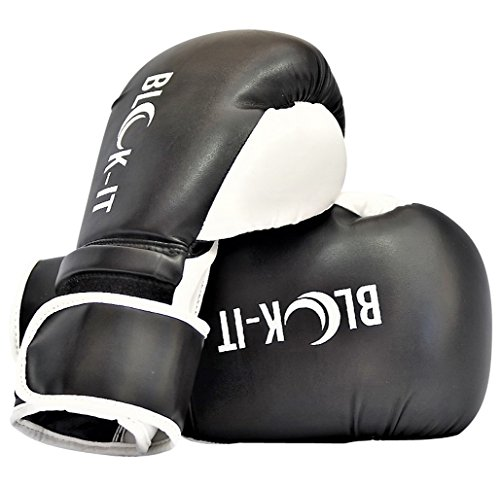 Boxhandschuhe: Blok-iT Professionelle Box Ausstattung. (Trainingshandschuhe, Kickboxhandschuhe, Box Handschuhe, MMA Handschuhe, Boxausrüstung). Perfekt Für MMA, Kickboxen, Muay Thai, Boxen (Schwarz, 8oz (Kind Größe))