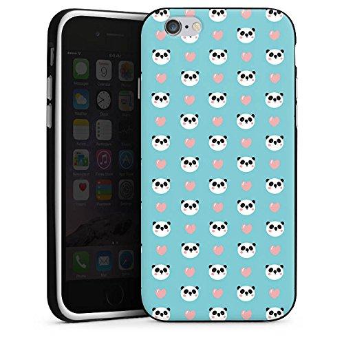 Apple iPhone X Silikon Hülle Case Schutzhülle Panda Cartoon Muster Silikon Case schwarz / weiß