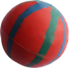 Pets Empire Hard Rubber Ball for Aggressive Chewer Dog, (Colour May Vary) - Set of 1