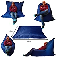 Extra Large Giant Beanbag Blue–Indoor & Outdoor Bean Bag–Massive 180x 140cm–Great for Garden by Outside & en