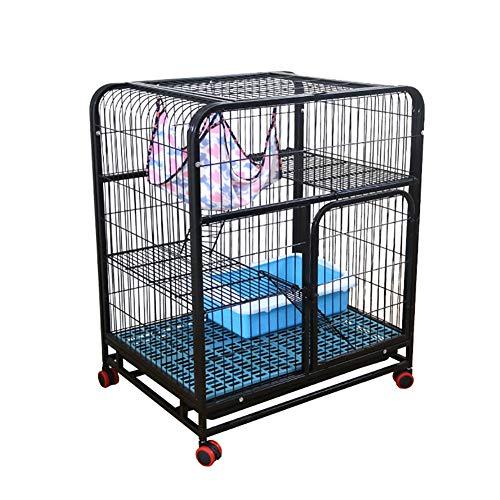 Portable Metal Pet Übung und Laufgitter, Pet Laufstall Tier Zaun Cage, Single Door Pet Cage (Farbe : SCHWARZ) -