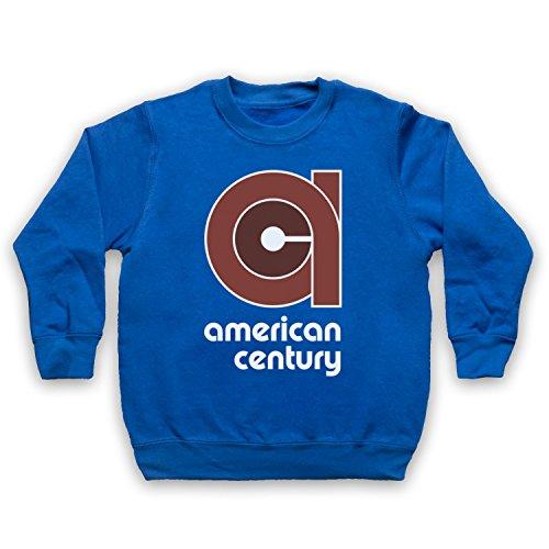 vinyl-american-century-record-label-ninos-sudadera-azul-real-12-13-anos