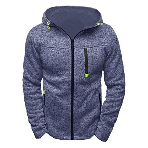 ITISME Herren Pullover Herren Hoody Zipper Slim Hoodies Sweatshirts Pullover Oversize Regular Fit …