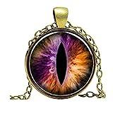 Lila Halskette Drachen Eye–Fantasy lila Eye Anhänger–Bild Schmuck Geschenke für Frauen Charm Geschenk