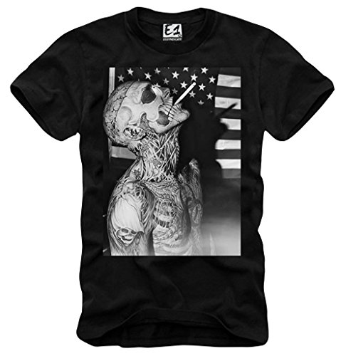 E1SYNDICATE T-SHIRT ZOMBIE WASTED YOUTH SUPREME LONDON ELEVEN BOY DC 480BK S-XL
