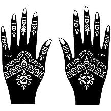 Set de 2Sheet mehndī Tattoo Pochoir S145pour les mains