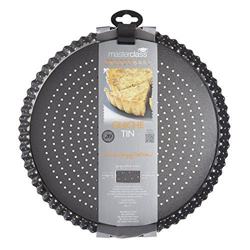 $ Kitchen Craft Master Class-Teglia antiaderente per torta con Base larga, Teglia per crostate, Quiche, 28 cm (27,94″) (11 cm) recensioni dei consumatori