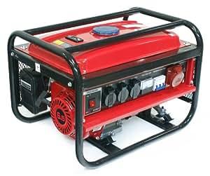 LÖWENHERTZ® Stromerzeuger Generator Aggregat mit Starkstrom, 3x Schuko und 1x 12V, 4.8KW/6.5PS, 2500 Watt