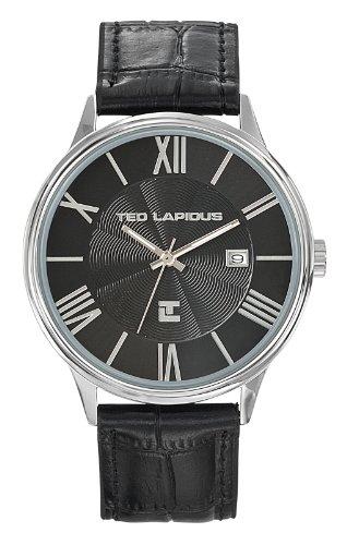 Ted Lapidus 5128101 - Reloj de pulsera hombre, piel, color negro