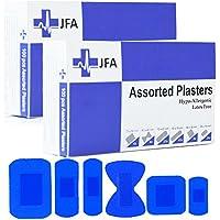 JFA Medizinische blaue Pflaster, 6 verschiedene Größen, 100 Pflaster pro Packung - 2 Packung preisvergleich bei billige-tabletten.eu