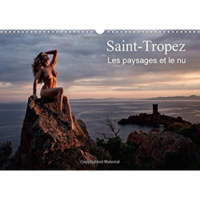 Saint-Tropez les paysages et le nu : Photos érotiques au bord de la mer et dans la nature. Calendrier mural A3 horizontal 2016