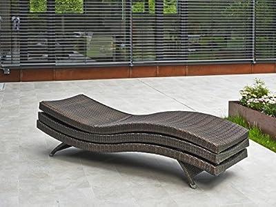 DESTINY Liege Wave Bronze Stapelliege Polyrattan verstellbar Gartenliege von Destiny - Gartenmöbel von Du und Dein Garten