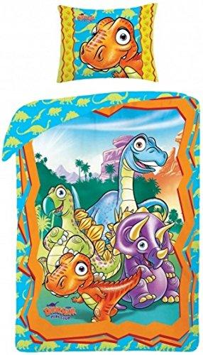 2 tlg Bettwäsche Kinderbettwäsche 140x200+70x90 1121 Dinosaurier