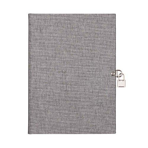 Pepa Paper - Libro diario candado A5 Duo Ceniza