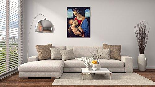 ArtPlaza Da Vinci Leonardo – Madonna, Dekorative Paneele, Holz, Mehrfarbig, 60 x 1.8 x 80 cm