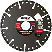 Wellcut Diamond Angle Grinder Blade, Dry & Wet Cutting, Ultra Thin, Premium Quality, Fast & Smooth Cutting for Steel, Cast Iron, Concrete, Plastics, Rubber, Glass, Brick. - (125 X 22.23 Mm)