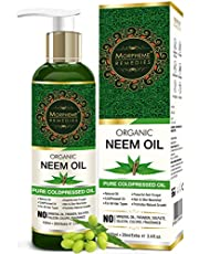 Morpheme Pure Organic Neem Oil (ColdPressed & Undiluted) 12