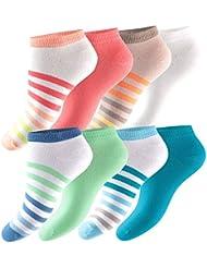 8 Paar knallige Footstar Damen Sneaker Socken COLOUR BLOCK - Soft-Komfortbund ohne einschneidendes Gummi - Qualität von celodoro