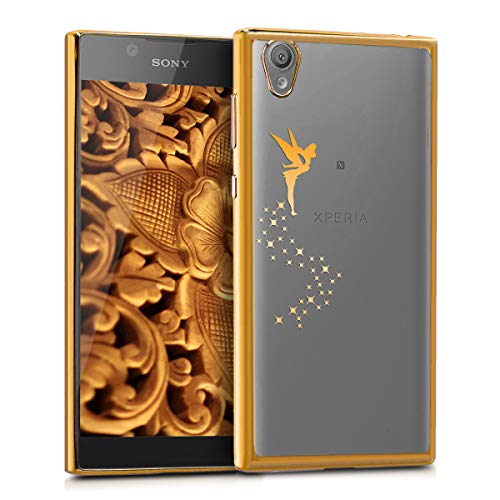 kwmobile Sony Xperia L1 Hülle - Handyhülle für Sony Xperia L1 - Handy Case in Gold Transparent