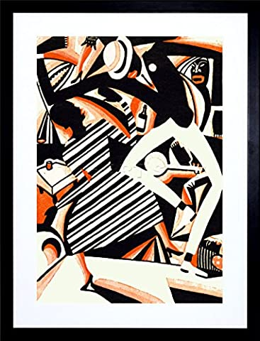 AFRICAN AMERICAN JAZZ TWO TONE REISS DANCE MUSIC FRAME ART PRINT PICTURE F12X663