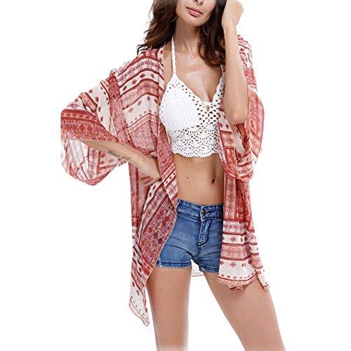 Preisvergleich Produktbild Fletion Frau Bluse Chiffon Cardigan Tops Bikini Cover Up Beachwear Oberteile Bluse Cardigan Cover up Sommerkleider für Bikini