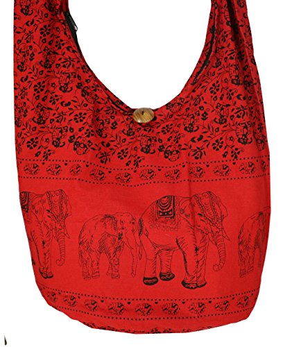 Rosina , Damen Umhängetasche L, rot - F Red - Größe: L (Red Panty Crotchless)
