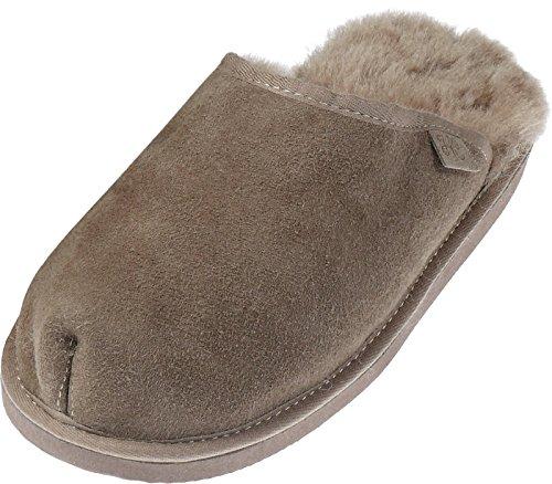 Extra dicke Lammfell Pantoffeln für Herren Sand
