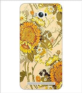 PrintDhaba Floral Design D-1441 Back Case Cover for ASUS ZENFONE MAX ZC550KL (2016) (Multi-Coloured)